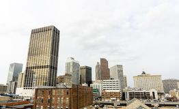 Atlanta Georgia Skyline Perspective From Underground Atlanta fotos de archivo