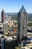 Atlanta Georgia Skyline. Sun Trust Bank Plaza and Bank of America Plaza, in downtown Atlanta, GA Royalty Free Stock Photo