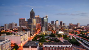 Atlanta, Georgia Skyline Time Lapse stock footage