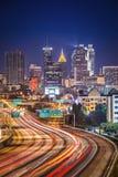 Atlanta, Georgia Skyline. Traffic in Atlanta, Georgia, USA Royalty Free Stock Images