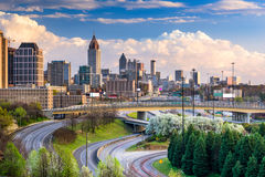 Atlanta Georgia Skyline Royalty Free Stock Photos