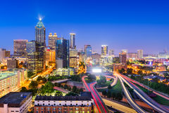 Atlanta, Georgia Skyline. Atlanta, Georgia, USA downtown city skyline Stock Image