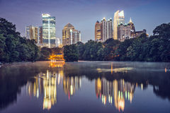 Atlanta, Georgia Skyline. Atlanta, Georgia, USA at Piedmont Park Royalty Free Stock Images