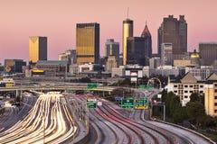 Atlanta, Georgia Skyline. Atlanta, Georgia, USA twilight rush hour Royalty Free Stock Photo