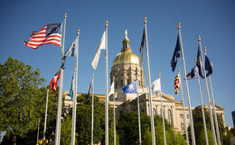 Atlanta Georgia State Capital Gold Dome City Architecture Royalty Free Stock Images