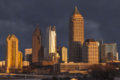 Atlanta Georgia Stormy Skyline Royalty Free Stock Photos