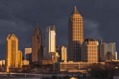 Atlanta Georgia Stormy Skyline. Atlanta Georgia skyline with thunderstorm sky Royalty Free Stock Photos