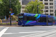 Atlanta Georgia Streetcars stock photos