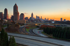 Atlanta Georgia at Sunset Stock Photography