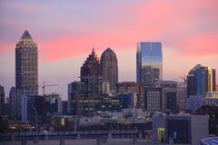 Free Atlanta, Georgia, Sunset Skyline Royalty Free Stock Photo - 51488085
