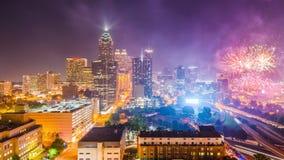 Atlanta, Georgia, USA. Downtown city skyline stock video
