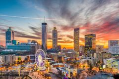 Atlanta, Georgia, USA. Downtown skyline royalty free stock photography