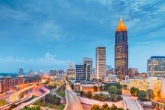 Atlanta, Georgia, USA downtown and midtown royalty free stock image