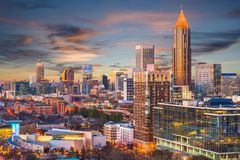 Atlanta, Georgia, USA. Downtown skyline royalty free stock image