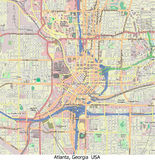 Atlanta Georgia USA hi res aerial view Stock Image