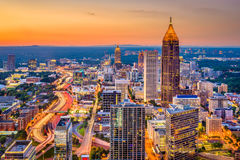 Atlanta, Georgia, USA Skyline. Atlanta, Georgia, USA downtown skyline at dusk Royalty Free Stock Image