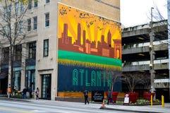 Atlanta graffiti fotografia stock