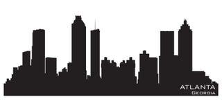 Atlanta, Gruzja Linia horyzontu Szczegółowa wektorowa sylwetka ilustracji