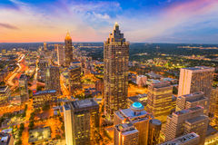 Atlanta, Gruzja, usa linia horyzontu Zdjęcia Royalty Free