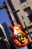Atlanta - Hard Rock Cafe Guitar Sign Stock Photos