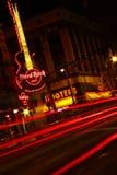 Atlanta - Hard Rock Cafe y sirenas en la noche Imagen de archivo libre de regalías