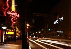 Atlanta - hard rock, sirènes et l'hôtel de Westin Photographie stock libre de droits