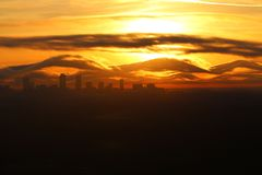 Atlanta& x27 ; horizon de s Images stock