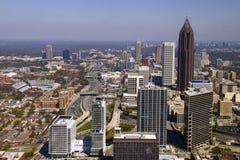 Atlanta - horizonte céntrico hermoso Fotografía de archivo