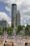 Atlanta im Stadtzentrum gelegen stockbilder