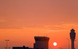 Atlanta International Airport. The sun rises over Terminal C at the Atlanta International Airport in Atlanta, GA.  (Photo by Walter G. Arce/ASP, Inc Royalty Free Stock Images