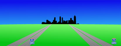 Atlanta and interstates Royalty Free Stock Images