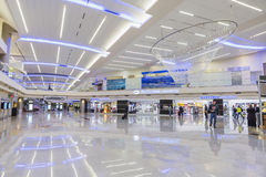 ATLANTA - Januari 19, 2016: Atlanta internationell flygplats som är inter- royaltyfri foto