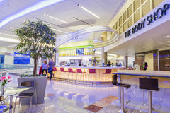 ATLANTA - 19 janvier 2016 : Aéroport international d'Atlanta, inter Images libres de droits