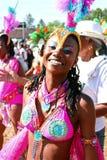 Atlanta-Karnevals-Rosa-Bikini-Mädchen lizenzfreies stockbild