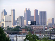 Atlanta from King Memorial Station. Atlanta Looking from King Memorial MARTA Station Royalty Free Stock Image