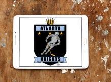A Atlanta Knights o logotipo da equipe de hóquei em gelo fotos de stock royalty free