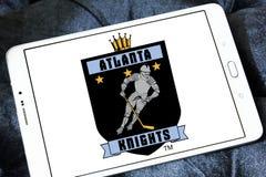 A Atlanta Knights o logotipo da equipe de hóquei em gelo imagens de stock royalty free