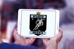 A Atlanta Knights o logotipo da equipe de hóquei em gelo imagem de stock
