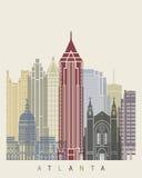 Atlanta linii horyzontu plakat ilustracja wektor