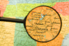 Atlanta Magnified Stock Image