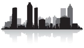 Atlanta miasta linii horyzontu sylwetka ilustracji