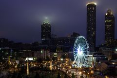 Atlanta-nächtlicher Himmel Lizenzfreie Stockfotos