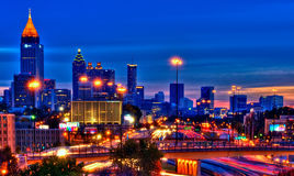 Atlanta at night Stock Photos