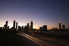 atlanta nightscape Fotografia Royalty Free