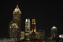 atlanta nightscape Royaltyfria Bilder