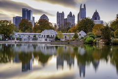 Atlanta Park Skyline Royalty Free Stock Photo