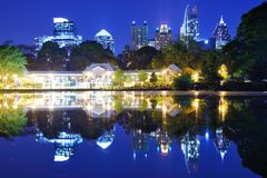 Atlanta Park View Royalty Free Stock Image
