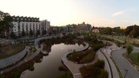 Atlanta parkerar den flyg- staden stock video