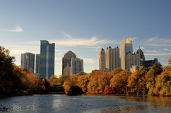 Atlanta From Piedmont Park Royalty Free Stock Photography