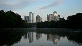 Atlanta an Piemont-Park stock footage